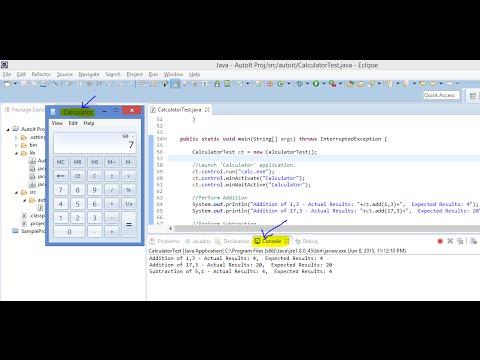 Java and AutoIt - Automating the calculator application using autoitx4java
