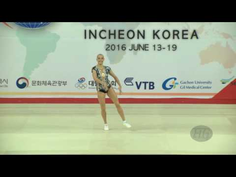 AMOSENOK Polina (RUS) - 2016 Aerobic Worlds, Incheon (KOR) - Qualifications Individual Wo… видео