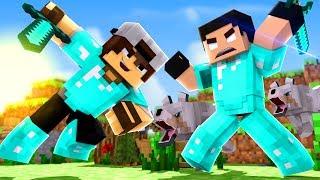 Minecraft: HARDCORE AMIGOS #2 - O PRIMEIRO DUELO!