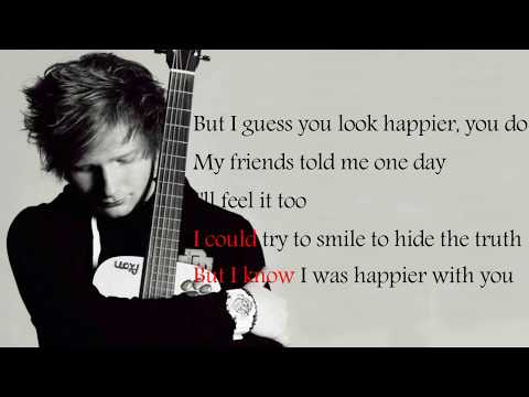 Ed Sheeran - Happier (Lyrics) (видео)