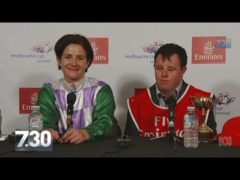 Watch video Michelle Payne, first female jocker winner of Melbourne Cup and her brother with Down Syndrome