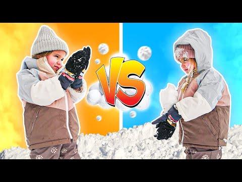 Taytum VS Oakley Snow Ball Battle!