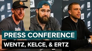 Wentz, Kelce, & Ertz Discuss Offseason Conditioning & More | Eagles Press Conference