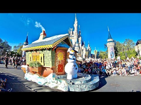 🐭 Mickey's Once Upon a Christmastime Parade with Anna, Elsa, Olaf, Kristoff,  Disney Princesses