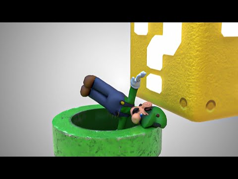 Luigi's Worst Nightmare [Softbody Simulation] - Jelly Luigi