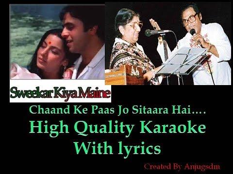 Video Chaand Ke Paas Jo Sitaara Hai Karaoke with lyrics (High Quality) download in MP3, 3GP, MP4, WEBM, AVI, FLV January 2017