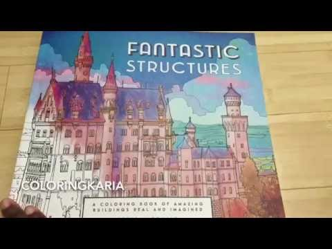 Fantastic Cities And Structures By Steve McDonald Adult Coloring Review Flip Through