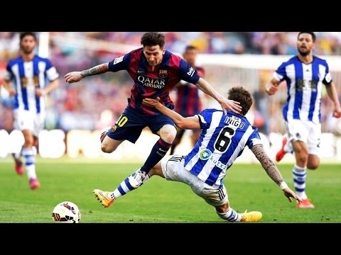 Lionel Messi ● The King of Skipping Challenges [ Tackles & Fouls ] __HD_ (видео)