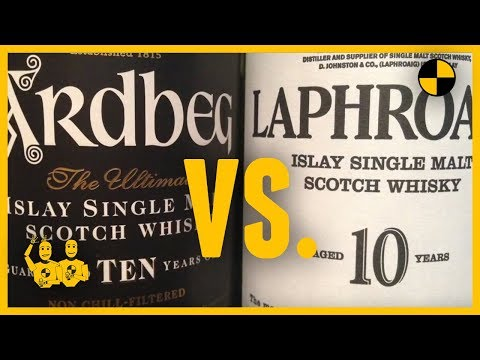 Whisky Review #227 ARDBEG 10 vs. LAPHROAIG 10 with the Scotch Test Dummies -YouTube