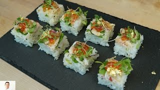 Live Crawfish Osaka Sushi - How To Make Sushi Series by Diaries of a Master Sushi Chef