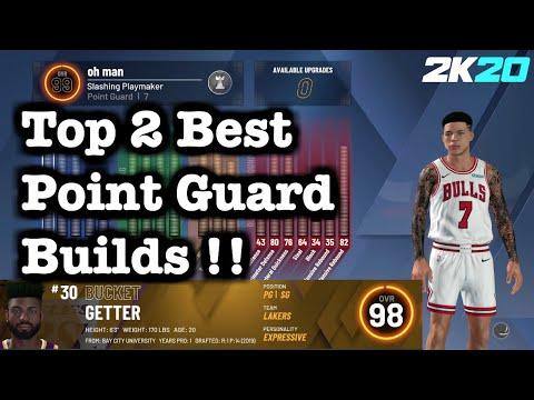 Top Point Guard Builds 2K20 : Best Slasher Build + Best Speedboosting Sharp Build for Point Guards