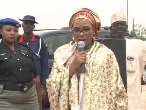 Mrs Buhari Lay Foundation Stone of A Children and Maternity Center  in Daura