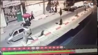 شاهد لحظة دهس مركبة لطفلة بالقرب من دوار خضوري بمدينة طولكرم