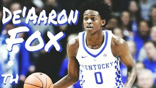 De'Aaron Fox had been drafted #5 overall by the Sacramento Kings.When you watch De'Aaron Fox play, there's one thing that comes to mind...speed. This guy is so quick, when you watch him you have to be scared to blink, because you may just miss something amazing. He has become the leader for this year's Kentucky Wildcats and seems destined to do the same thing at the next level. With the 2017 NBA Draft coming closer, his stock seems to be rising.Is De'Aaron Fox the next big thing?Special thanks to the Hoops Column for some of the clips.Music by Kaleb Mitchell and DKST Beats, two of my favorite artists.Song: Kaleb Mitchell- 18DKST Beats- Let The Music PlayI do not own the footage or music in this video. All rights go to their respective owners.Thanks for watching! Please don't forget to drop a like, leave feedback in the comments section below, and SUBSCRIBE. Also don't forget to turn on post notifications so you don't miss any new content.God bless!