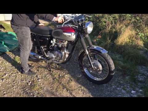 Triumph Bonniville T120 1968 750cc Margo Start Up