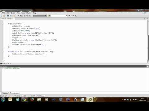 JAVA Tutorial – Designing a Basic Graphical User Interface (GUI) Part 1 – Session 5