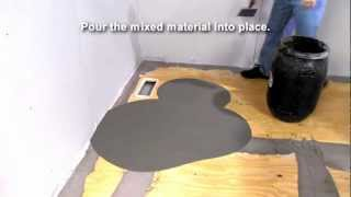 how to use self leveling underlayment