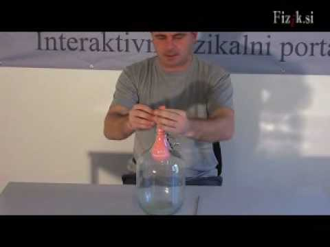 A balloon in a bottle - physics experiment