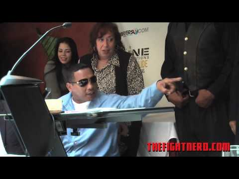 Ricardo Mayorga & Din Thomas brawls at Shine Fights Press Conference