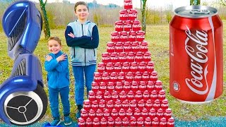 Video CRAZY COCA COLA CHALLENGE vs HOVERBOARD PRANK ! Swan fait une Pyramide Géante de Canettes… MP3, 3GP, MP4, WEBM, AVI, FLV September 2017