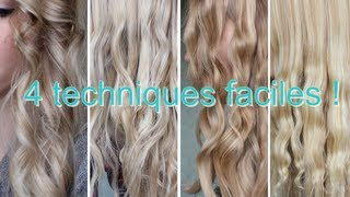Boucles ou ondulations sans fer ! 4 techniques faciles - YouTube