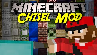 CREATE HUNDREDS OF DECORATIVE BLOCKS! Chisel Mod! Minecraft Mod Showcase!