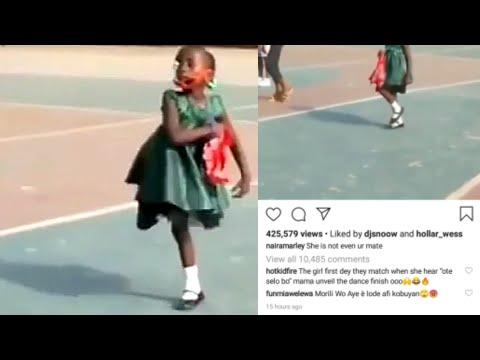Young Girl Goes Viral After Dancing Naira Marley's  Soapy