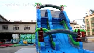 Commercial Inflatable Water Slide with small pool For Kids and Adults youtube video