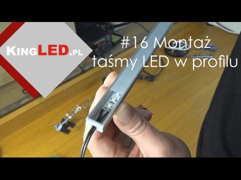 Jak zamontować taśmę LED w profilu aluminiowym #16 - Poradnik od KINGLED_pl