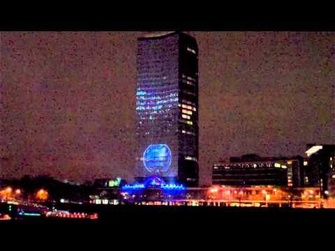 millbank tower - Start of the DeadMau5 performance at the Nokia 800 Lumia Windows phone event at Millbank Tower - filmed from Albert Embankment on the South Bank (note voices...