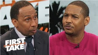 Carmelo Anthony never said anything about an NBA farewell tour | First Take