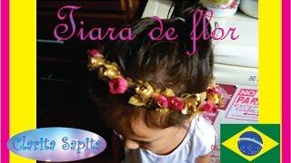 Descrição de como fazer uma tiara-coroa de flor, tipo da Talita do BBB