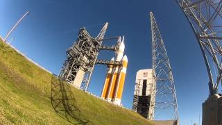 GoPro Hero 2 Video Of Delta IV Heavy And Orion EFT-1 On The Launch Pad