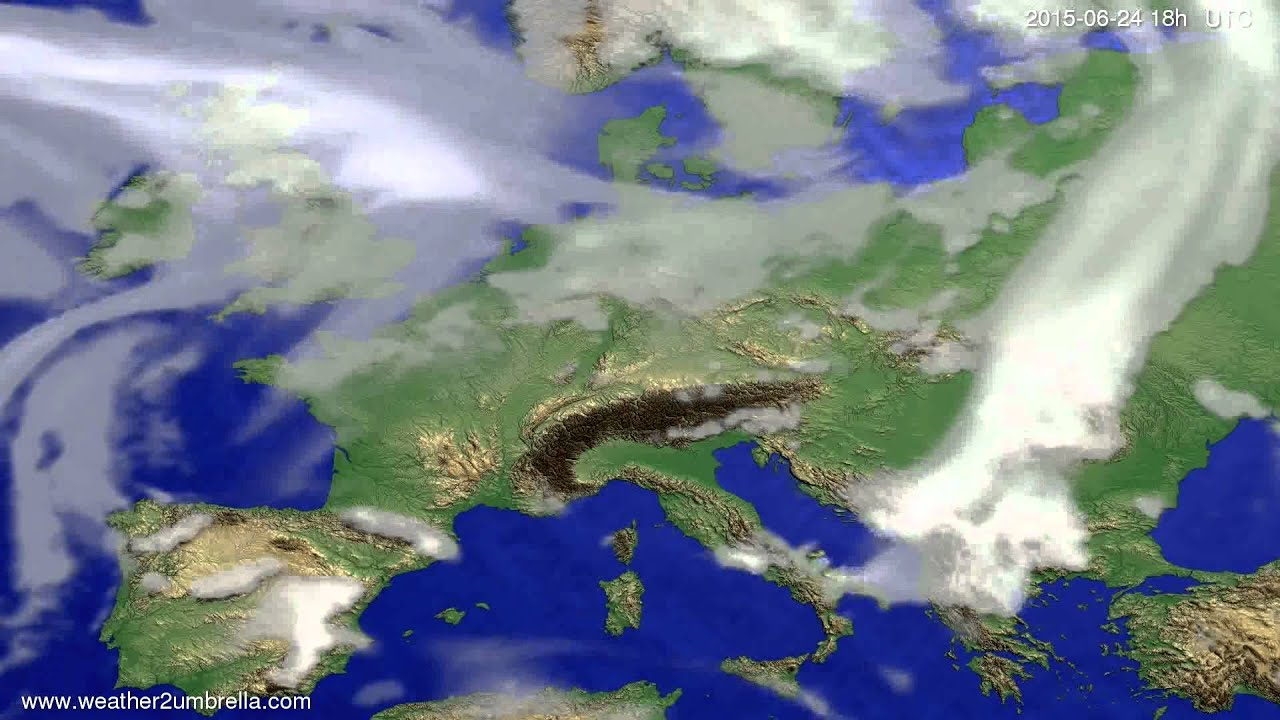 Cloud forecast Europe 2015-06-22