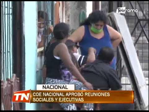 COE nacional aprobó reuniones sociales y ejecutivas