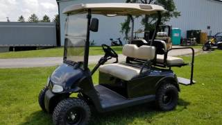 5. 2012 Ez Go RXV Gas Golf Cart For Sale With Custom Rims Tires Flip Seat Winshield & Mirrors