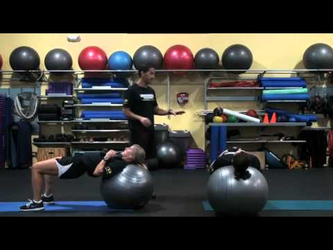 Stability Ball Pec Fly