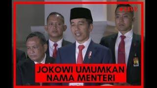 BREAKING NEWS - Pengumuman Menteri Kabinet Baru Jokowi