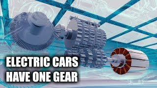 Why don't electric cars have multiple-gear transmissions? How Formula E Works - https://youtu.be/CwKsqBxzVL0Subscribe for new videos every Wednesday! - https://goo.gl/VZstk7Big Thanks To Formula E For Sponsoring This Video! Channel Link:https://www.youtube.com/channel/UC-DuRqsBQOEk_5o1q4Ze-FgWhy do electric cars only have 1 gear? This is the first of a five part series sponsored by Formula E, who I've partnered with to talk about the engineering behind electric cars. I had the opportunity to get behind the scenes at the New York City E-Prix, and was able to chat with team principals, hang out in the engineering rooms during qualifying, and even learn from this year's champion, Lucas di Grassi. So why do electric cars use just a single gear, rather than using traditional transmissions like you'd find paired with internal combustion engines? Electric motors can get away without numerous gears because they are high revving, remain fairly efficient across a very broad rev range, and produce a great amount of torque at low RPM. Don't forget to check out my other pages below!Facebook: http://www.facebook.com/engineeringexplainedOfficial Website: http://www.howdoesacarwork.comTwitter: http://www.twitter.com/jasonfenske13Instagram: http://www.instagram.com/engineeringexplainedCar Throttle: https://www.carthrottle.com/user/engineeringexplainedEE Extra: https://www.youtube.com/channel/UCsrY4q8xGPJQbQ8HPQZn6iANEW VIDEO EVERY WEDNESDAY!