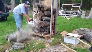 9. Firewood trimming with a Stihl MS271 Farm Boss