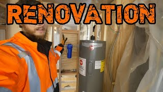 The Most Suspenseful Water Heater Hookup   Home Renovation #56