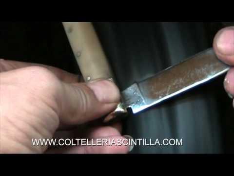 Restauro e affilatura di 3 coltelli (pattade) Coltelleria SCINTILLA Arrotino