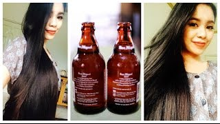 Beer Rinse for Softer, Shinier,Straighter and Fuller Hair-Benefits of Beer for the Hair - YouTube