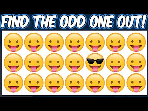 Find The Odd Emoji Out | Spot The Difference Emoji | Emoji Puzzle Quiz | Find the difference