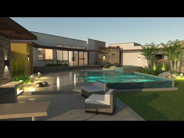 Dise o de casa de campo planos e interiores virtual for Diseno de casas online