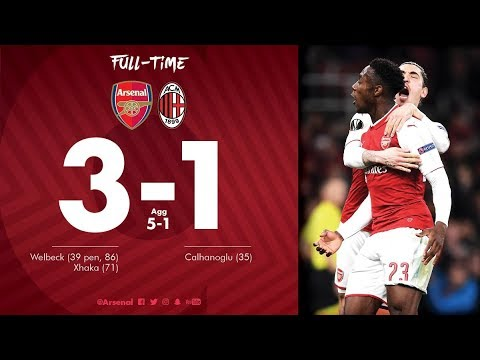 Arsenal vs AC Milan 3-1 All Goals & Highlights Extended-UEL 15/03/2018 HD SportsHunkTV
