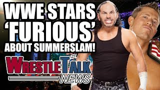 WWE stars 'furious' about Summerslam match, Big Cass injured and more in this WrestleTalk News Aug. 2017...Subscribe to WrestleTalk for daily WWE and wrestling news! https://goo.gl/WfYA12Support WrestleTalk on Patreon here! http://goo.gl/2yuJpoSubscribe to WrestleTalk's WRESTLERAMBLE PODCAST on iTunes - https://goo.gl/7advjXBig Cass injured on WWE Monday Night Raw, Aug. 21, 2017, via PWInsider - http://www.pwinsider.com/article/111811/injury-leads-to-legit-match-stoppage-on-raw.html?p=1Big Cass injured on WWE Monday Night Raw, Aug. 21, 2017, via WWE.com - http://www.wwe.com/shows/raw/article/big-cass-injured-august-21-2017An injured Big Cass leaves Raw on crutches: Raw Fallout, Aug. 21, 2017, via WWE YouTube channel - https://www.youtube.com/watch?v=5cGf7Aq3-WEEnzo Amore calls out Big Cass on Twitter - https://twitter.com/real1/status/899815217798008832Enzo Amore wishes Big Cass well on Twitter - https://twitter.com/real1/status/899818006959853568WWE Summerslam 2017 delays on entering arena, via WrestleZone - http://www.wrestlezone.com/news/876311-why-the-arena-was-empty-for-much-of-the-wwe-summerslam-kickoff-show-rocks-daughter-in-attendance-roh-title-change-takes-place-last-nightWWE Summerslam 2017 The Miz, Jeff Hardy, Matt Hardy and more 'furious' at kickoff match, via Wrestling Observer Radio - http://www.f4wonline.com/wrestling-observer-radio/wor-summerslam-2017-review-f4w-convention-tons-more-241356Catch us on Facebook at: http://www.facebook.com/WrestleTalkTVFollow us on Twitter at: http://www.twitter.com/WrestleTalk_TV