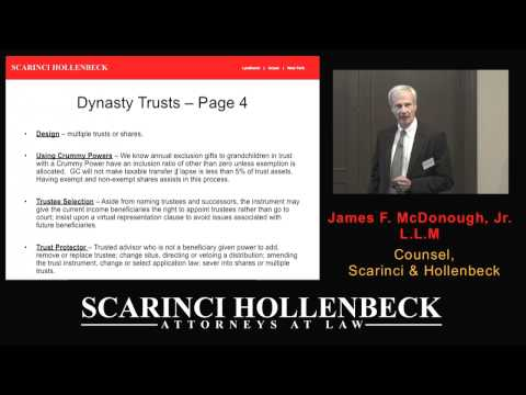 Part III: Tax Issues That Impact Your Wealth; Estate Planning & Dynasty Trusts