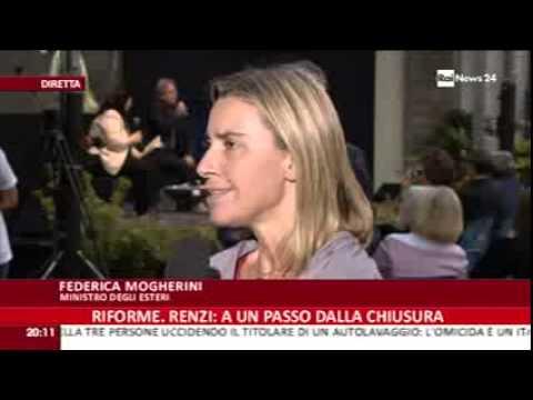 Iraq e politica europea, intervista ministro Mogherini su Rai News 24