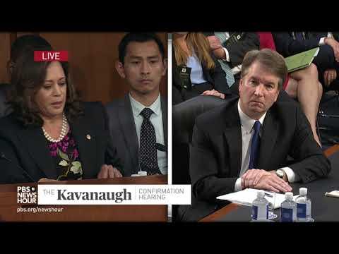 WATCH: Partisanship, conservative agenda guides Kavanaugh,  Sen. Kamala Harris says